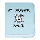 My Brother Rocks! (Drums) baby blanket