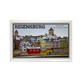 Regensburg Waterfront Rectangle Magnet