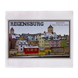 Regensburg Waterfront Throw Blanket