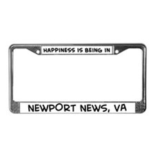Happiness is Newport News License Plate Frame