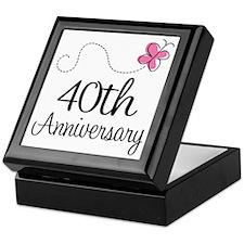 40th Anniversary Gift Butterfly Keepsake Box