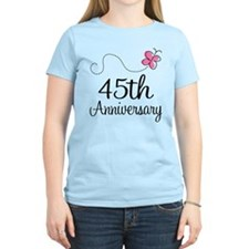 45th Anniversary Gift Butterfly T-Shirt
