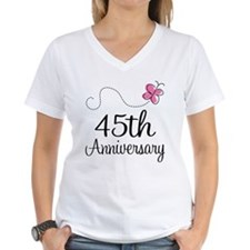 45th Anniversary Gift Butterfly Shirt