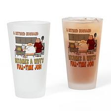 Retired Husband Drinking Glass