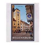 Regensburg Old Rathaus Throw Blanket