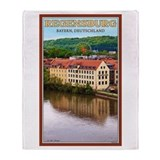 Regensburg Danube River Throw Blanket