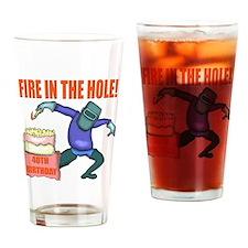 40th Birthday Drinking Glass