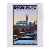 Regensburg Winter Eve Throw Blanket