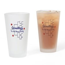 Genealogy Chart Drinking Glass