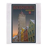 Regensburg Golden Tower Throw Blanket