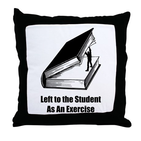 Student Exercise Throw Pillow