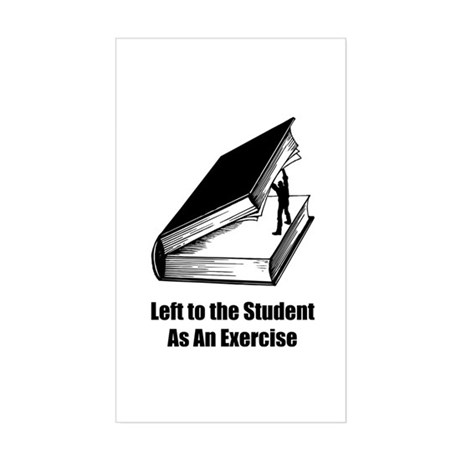 Student Exercise Rectangle Sticker