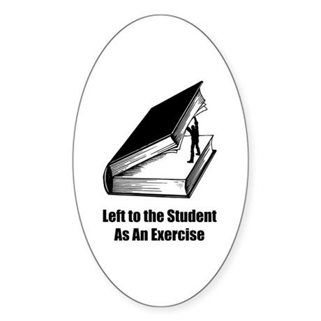 Student Exercise Oval Sticker