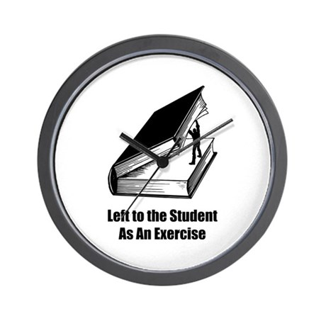 Student Exercise Wall Clock
