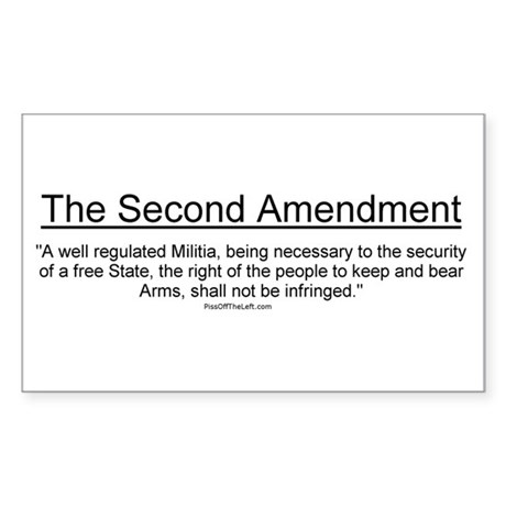 Second Amendment Rectangle Sticker