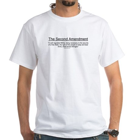 Second Amendment White T-Shirt