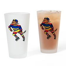 Monkey Hockey Player Drinking Glass