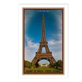 Paris - The Eiffel Tower Postcards (Package of 8)