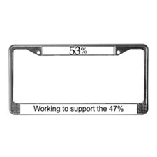 Funny 47 License Plate Frame