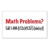 Math Problems Rectangle Decal