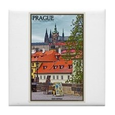 Prague Castle Tile Coaster