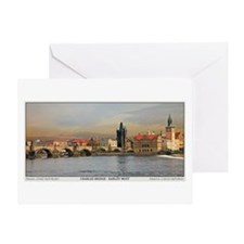 Charles Bridge Panorama Greeting Card