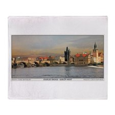 Charles Bridge Panorama Throw Blanket