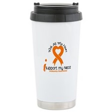 With All My Heart Leukemia Ceramic Travel Mug