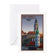 Cesky Krumlov Towers Greeting Card