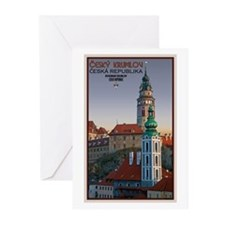 Cesky Krumlov Towers Greeting Cards (Pk of 20)