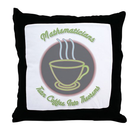 Mathematicians Throw Pillow