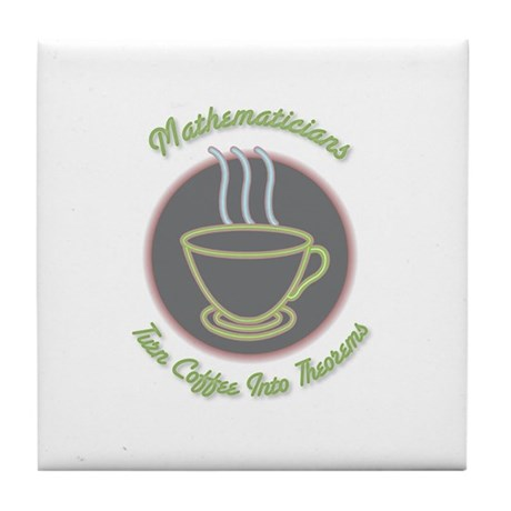 Mathematicians Tile Coaster