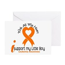 With All My Heart Leukemia Greeting Cards (Pk of 1