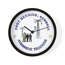 Airborne Training - Ft Benning Wall Clock
