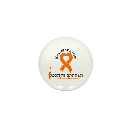 With All My Heart Leukemia Mini Button (10 pack)