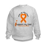 With All My Heart Leukemia Sweatshirt