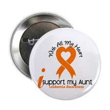 "With All My Heart Leukemia 2.25"" Button (100 pack)"