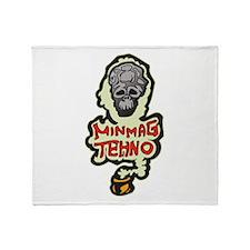 Minimal Techno Music Dance Throw Blanket