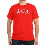 Unique Peace love bicycle T
