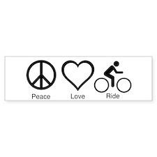 peace_love_ride_black_10_5x6_300dpi Bumper Bumper Sticker