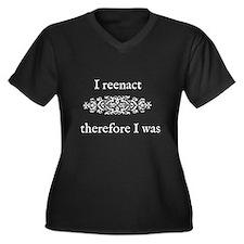 I was Women's Plus Size V-Neck Dark T-Shirt