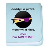 Pirate / Ninja / Awesome baby blanket
