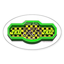 Dads Taxi Oval Decal