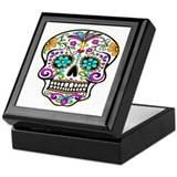 Tattoo Decorated Skull Keepsake Box