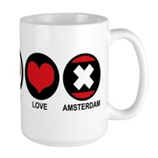 Peace Love Amsterdam Mug