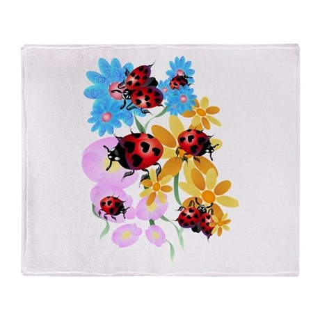 Lucky-Love Ladybugs Throw Blanket