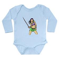 Fighting Amazon Women Long Sleeve Infant Bodysuit