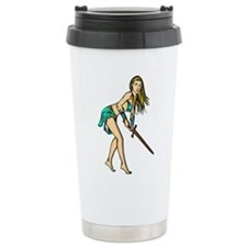 Battling Amazon Women Ceramic Travel Mug