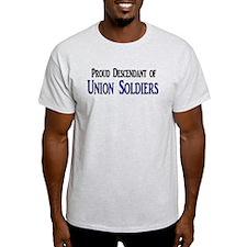 Proud Descendant Of Union Soldiers T-Shirt