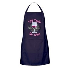 Will Trade Husband For Wine Apron (dark)